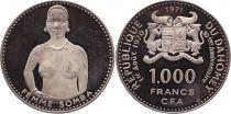 Dahomey 1000 francs -  10ème anniversaire de l\'indépendance - 1971
