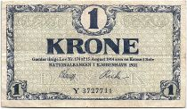 Danemark 1 Krone 1921 - TTB - Série Y - P.12.f