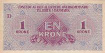 Danemark 1 Krone ND1945 - Allied Kommando in Denmark - 2ème ex