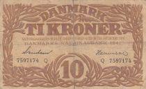 Danemark 10 Kronen 1941 - Hermès - Série Q