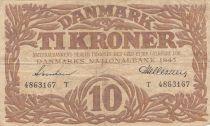 Danemark 10 Kronen 1941 - Hermès - Série T