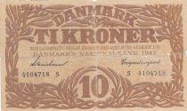 Danemark 10 Kronen 1942 - Hermès - Série S 2ème ex
