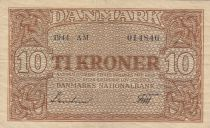 Danemark 10 Kronen 1944 - Armoiries - Série AM