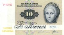 Danemark 10 Kroner C. S. Kirchhoff - Canard - 1975