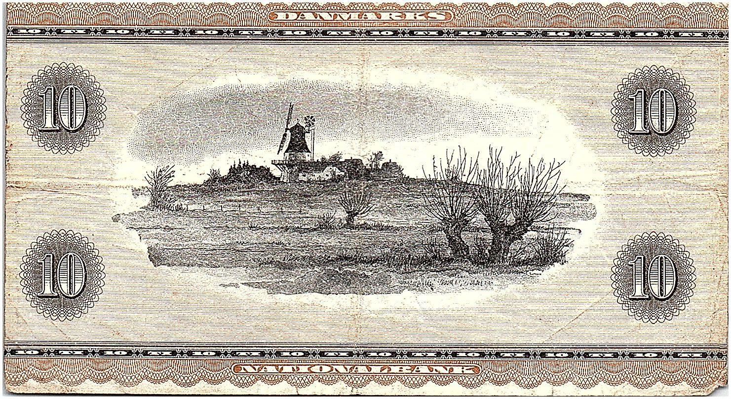 Danemark 10 Kroner Hans Christian Andersen - Cigognes - 1970 - B2 - TB+- P.44