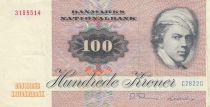 Danemark 100 Kroner 1982 - Jens Juel, Papillon