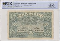 Danemark 100 Kroner Dauphins Stylisés - 1955  - PCGS VF 25