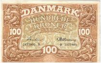 Danemark 100 Kroner Dauphins Stylisés