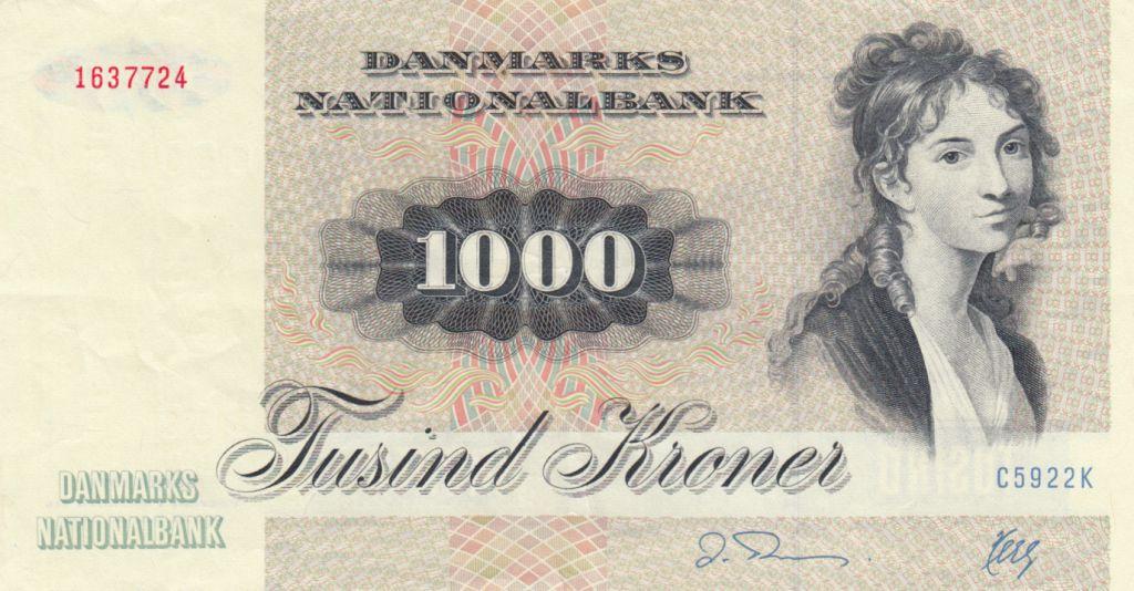 Danemark 1000 Kroner T. Heiberg - Ecureil - 1992