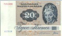 Danemark 20 Kroner, Pauline Tutein - Moineaux - 1979