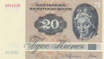 Danemark 20 Kroner, Pauline Tutein - Moineaux - 1979 Série A1