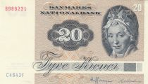 Danemark 20 Kroner, Pauline Tutein - Moineaux - 1984 Série C4 -SPL