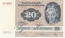 Danemark 20 Kroner, Pauline Tutein - Moineaux - 1986 - Série C6 - 2ème ex
