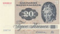 Danemark 20 Kroner, Pauline Tutein - Moineaux - 1986 - Série C6