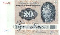 Danemark 20 Kroner, Pauline Tutein - Moineaux - 1987