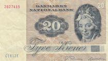 Danemark 20 Kroner 1981 - Pauline Tutein, Oiseaux