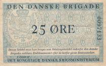 Danemark 25 Øre ND1947-58 - Den Danske Brigade - 2ème ex