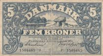 Danemark 5 Kronen 1942 - Paysage, Armoiries - Série J