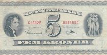 Danemark 5 Kronen 1959 - B.Thorvaldsen, Ville de Kalundborg - Série C1 3ème ex