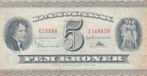 Danemark 5 Kronen 1959 - B.Thorvaldsen, Ville de Kalundborg - Série C1