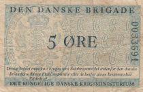 Danemark 5 Øre ND1947-58 - Den Danske Brigade - 2ème ex