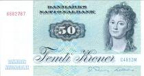 Danemark 50 Kroner, Mme Ryberg - Poisson  - 1972 - C4