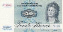 Danemark 50 Kroner, Mme Ryberg - Poisson  - 1976 - Série A2