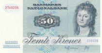 Danemark 50 Kroner, Mme Ryberg - Poisson  - 1989 - Série C5