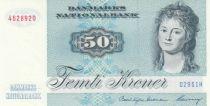 Danemark 50 Kroner, Mme Ryberg - Poisson  - 1996 - Série D2