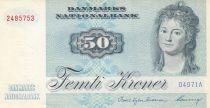 Danemark 50 Kroner, Mme Ryberg - Poisson  - 1997 - Série D4 - SUP+