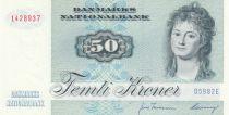 Danemark 50 Kroner, Mme Ryberg - Poisson  - 1998 - Série D5