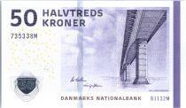 Danemark 50 Kroner Pont - Jarre 2013