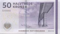 Danemark 50 Kroner Pont - Jarre