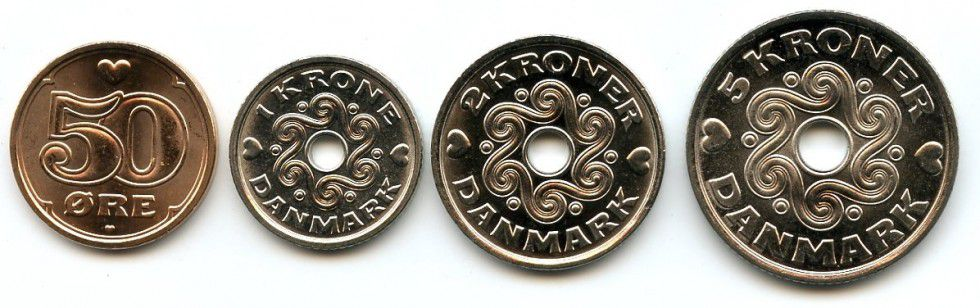 Danemark SET.1 Couronne
