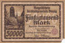 Danzig 50000 Mark Danzig 1923 - P.20 - état B