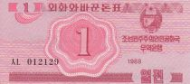 Democratic People´s Republic of Korea 1 Chon Red - 1988