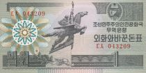 Democratic People´s Republic of Korea 1 Won Statue Chollima - 1988