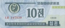 Democratic People´s Republic of Korea 10 Chon Blue - 1988