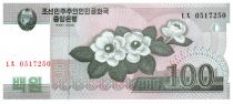 Democratic People´s Republic of Korea 100 Won Flowers - 2008