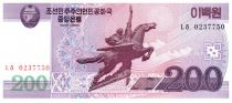 Democratic People´s Republic of Korea 200 Won Statue Chollima - 2008