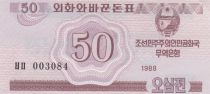 Democratic People´s Republic of Korea 50 Chon Pink - 1988
