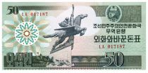 Democratic People´s Republic of Korea 50 Won Statue Chollima - 1988