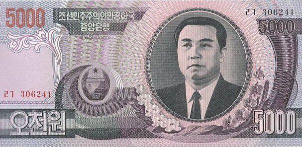 Democratic People´s Republic of Korea 5000 won Kim Il Sung