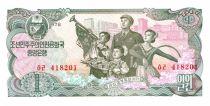 Demokratische Volksrepublic Korea 1 Won Family - Soldiers - 1978