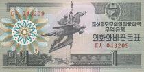 Demokratische Volksrepublic Korea 1 Won Statue Chollima - 1988