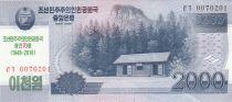 Demokratische Volksrepublic Korea 2000 Won House of Kim Il Sung - 1948-2018