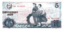 Demokratische Volksrepublic Korea 5 Won Worker, farmer - 1978