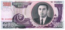 Demokratische Volksrepublic Korea 5000 Won Kim Il Sung - 2006