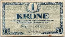 Denmark 1 Krone 1918 - F to VF - Letter  K - P.12.d