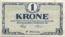 Denmark 1 Krone 1918 - XF - Letter F - P.12.d